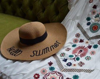 Hello Summer Large Brim Hat