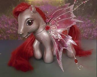 "OOAK ""Aysha"" Custom MLP Rose Fairy Pony"