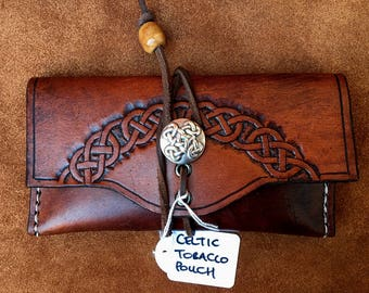Celtic Leather Smoking Pouch