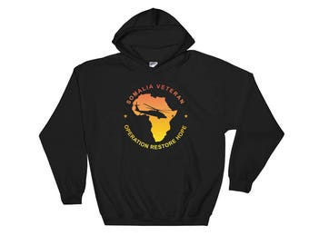 Somalia Veteran Hooded Sweatshirt Gold