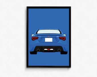 Subaru BRZ A3 Print