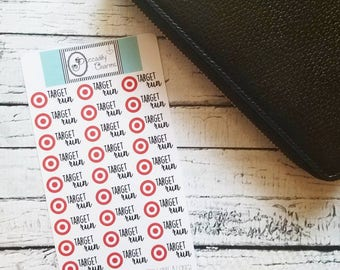Target Planner Stickers, Piccadilly Charms
