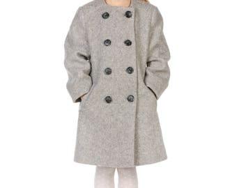 Fashion coat from italian wool