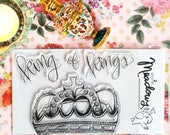 King of Kings Crown Stamp Set Clear Jewels Lord Jesus Princess Queen Art Worship Bible Journaling Growing Meadows Tai Bender