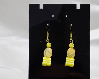 Earring beads fancy yellow