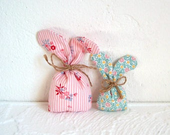 Set of 2 decorations-Easter bunny made of fabric