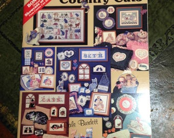Vintage  1988  More Country  Cats  Booklet  of  Graphs/Patterns/Charts  by Dale Burdett - Counted Cross Stitch Patterns