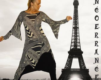 Asymmetric tunic, long tunic, ethnic tunic 'Tribal style...'