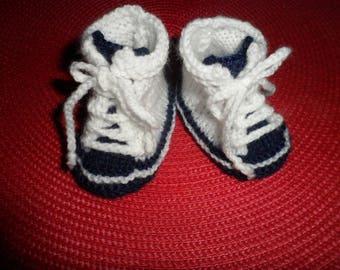 "slippers, sneakers baby wool ""0-3 months"""