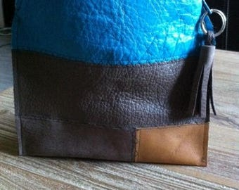 small clutch made of genuine leather-