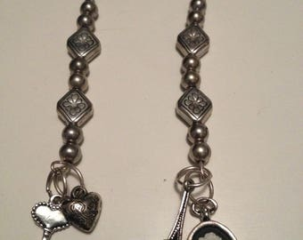 earring charm all silver