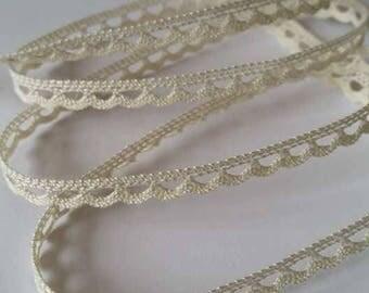 """Small very fine cotton lace """"Ecru"""""""