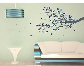 20% OFF Summer Sale Floral Branch tree wall decal, sticker, mural, vinyl wall art