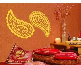 20% OFF Summer Sale Oriental Ornaments exotic tribal wall decal, sticker, mural, vinyl wall art