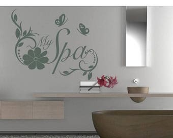 Spa Wall Decal Etsy - Locations where sell wall decals