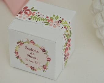 """10 boxes sweets themed """"Flower Crown"""""""
