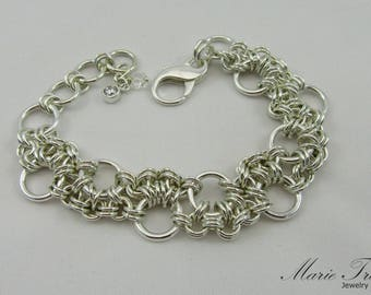 Chain Maille double row bracelet