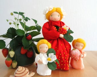 Mother Strawberry and her little ones for the Nature Table of Summer