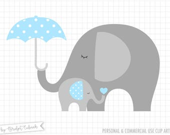 Elephant clip art, Baby elephant clipart, Elephant clipart, baby shower clip art, baby clipart, Commercial Use, INSTANT DOWNLOAD