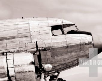 Canvas Wrap Wall Art - Classic Aviation DC-3 Airliner Gallery Wrap Photograph Print