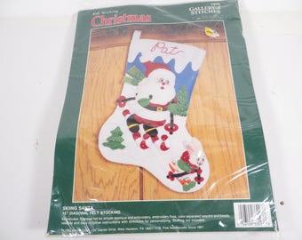 Vintage Felt Applique Stocking Kit - Bucilla Felt Christmas Stocking Kit