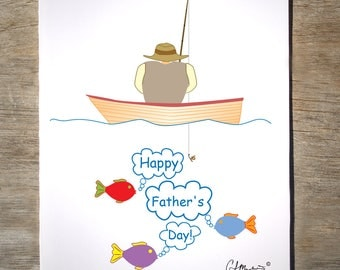 Father's Day Fishing Card (#1F)