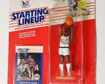 Kenner Starting Lineup 1988 Lafayette Lever Basketball Figure NIP Denver Nuggets