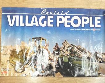 "Clearance - Vtg Village People Cruisin' Original Promotional Poster 1978 - 35"" x 23"""