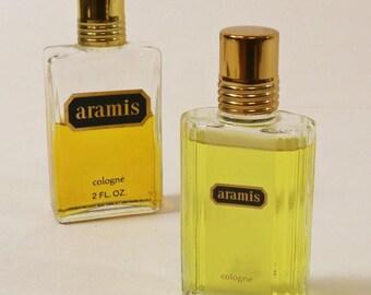 2 Bottles Vtg Aramis Cologne Splash - 2 Oz & 1.7 Oz, Partially Used