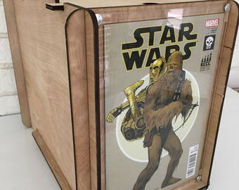 Gift for Star Wars fan -  Comic Storage Box with Kansas City Comic Con Variant Edition Star Wars Comic, husband, boyfriend, son, brother