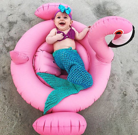 Knitting Pattern Mermaid Tail For Babies : KNITTING PATTERN Baby Mermaid Tail Blanket 5 Sizes, newborn-1 month, 2-6 mont...