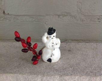 Plastic snowman ornament