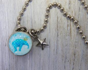 Polka Dot Elephant Charm, Kids Necklace, Childrens Jewelry,Girls Necklaces,Girls Bracelets , Interchangeable jewelry,Kids Bracelet,Elephant