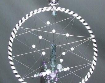 cristal dream catcher tenture murale cadeau de no l pour son. Black Bedroom Furniture Sets. Home Design Ideas