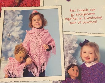 Crochet Wraps for Dolly & Me; New
