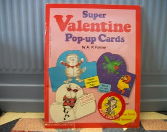 Super Valantine Pop-Up Cards in book form vy A P Folmer