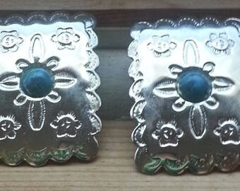 Post earrings in Southwestern style - Yeehah