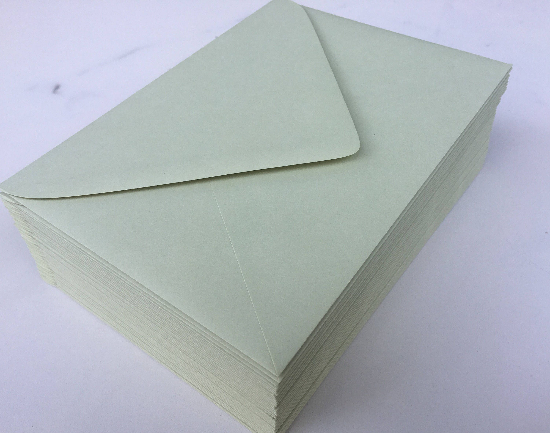 Wedding Invitation Envelopes Canada: 50 Sage Pastel Green A7 5x7 Invitation Or A1 (4Bar) RSVP
