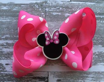 Minnie Mouse Hair Bow - Minnie Hair Bow - Minnie Bow - Minnie Mouse Outfit - Minnie Birthday - Minnie Mouse Birthday