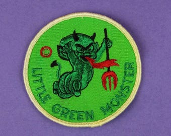 Little Green Monster Vintage 1970s NOS Patch