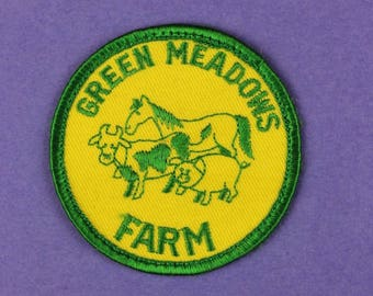 Green Meadows Farm Vintage Patch