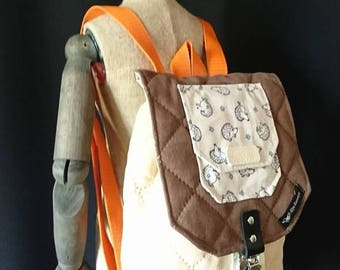 Light brown beige kids backpack