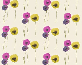 Sanderson Poppies Blackberry Curtains Made to Measure