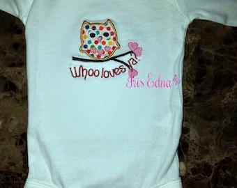 Baby's Owl Onesie Whooo Loves You - Long or Short Sleeve