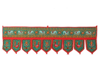 Handmade Window Door Valance Home Decor Decorative Embroidered Patchwork Toran Pelmet Topper Drapery Top Hanging Tent Decoration Art C464
