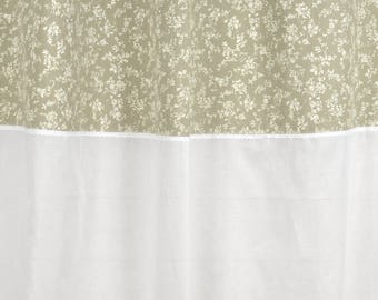 """Curtain """"JOSEPHINE"""" 150 X 250 with lace and sheer white"""