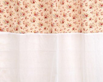 """Curtain """"Country white"""" 150 X 250 with lace and sheer white"""