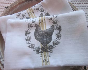 Farm FRESH Eggs Flour Sack TEA Towel KITCHEN Decor Gift~ Free shipping
