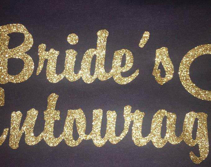 Bridal Entourage Shirts . Gold Glitter Bridal Party T-shirts. Wedding Shirts. Bachelorette Party Shirt. Getting Ready Outfits. Bridesmaid .