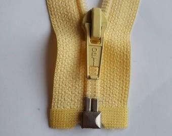VANILLA yellow nylon 5 vintage zip size 5 divisible OPTI zipper Cremallera fermuar cipzár cerniera молния fermeture éclair רוכסן